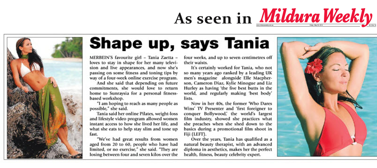 Tania Zaetta  - Mildura Weekly Article