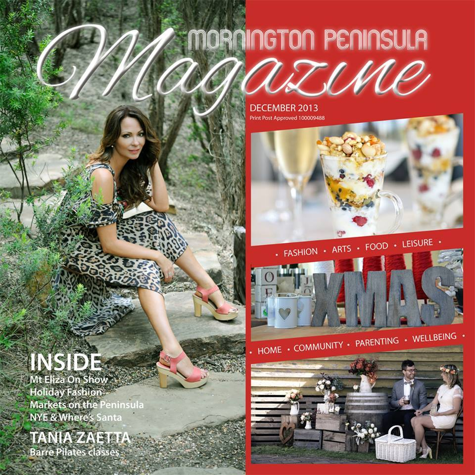 Tania Zaetta - Mornington Peninsula Mag DEC COVER